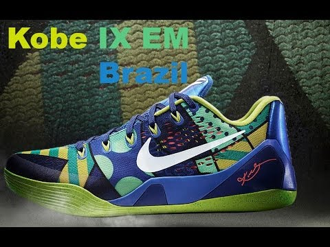 wholesale dealer 107ff 0eb02 Kobe IX 9 EM Brazil Low Game Royal Review - YouTube