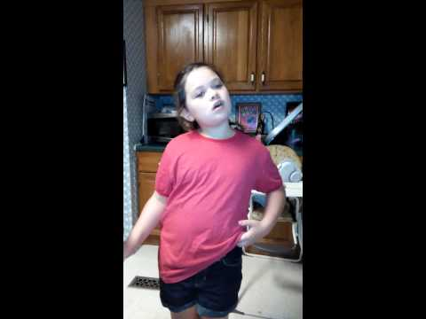7 year old singing Matty B- Stereo
