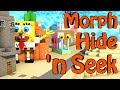 Minecraft Mods | MORPH HIDE AND SEEK - SpongeBob Mod & Cartoon Mod!