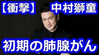 歌舞伎俳優の中村獅童さん(44)が初期の肺腺がんを患っていることを明...