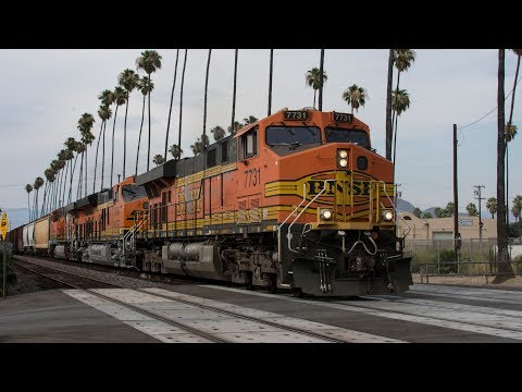 BNSF, Union Pacific, Amtrak, and Metrolink Trains all Across The Los Angeles Basin