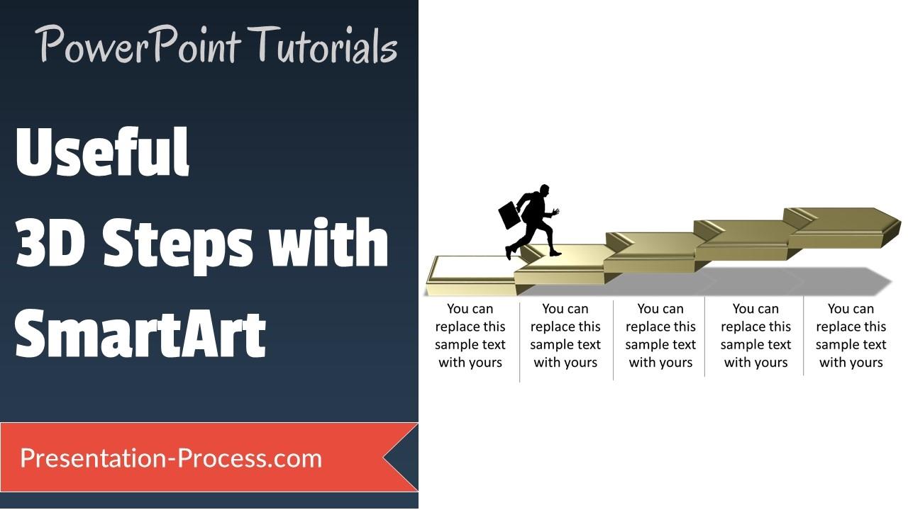 How to create 3D Steps with Smartart SMARTART SECRETS YouTube – Smartart Powerpoint Template