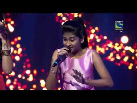 Nithyashree  indian Idol Junior  ((Ram Chahe leala Chahe)) 27-06-2015