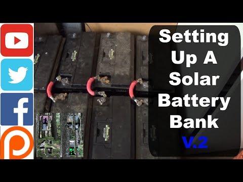 Setting up a battery bank / Full Solar Setup & PIP2424MSXE / Super simple