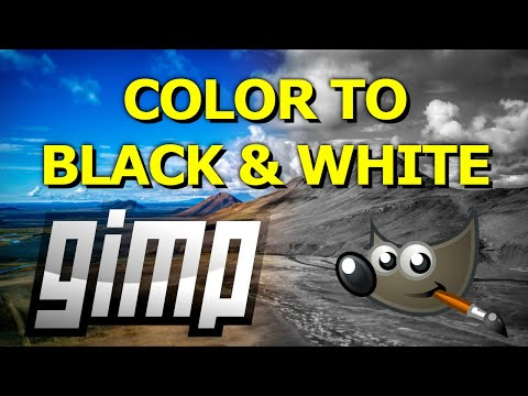 How to Make a Color Image Black and White in GIMP thumbnail