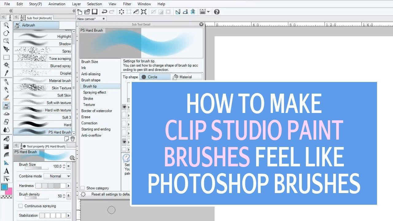How To Make Clip Studio Paint Brushes Feel like Photoshop's Basic Round  Brushes
