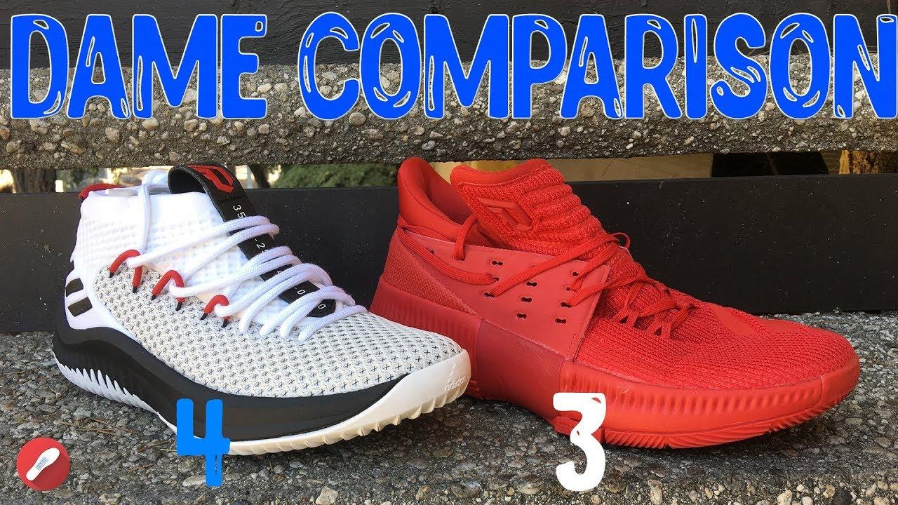 quality design 0a6d8 3cd9c Adidas Dame 4  Dame 3 Comparison!