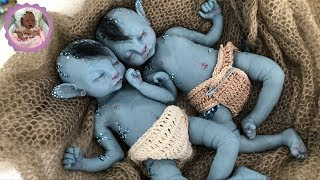 *AMAZING* SILICONE BABY BOX OPENING! AVATAR BABY TWINS! CUTENESS OVERLOAD!