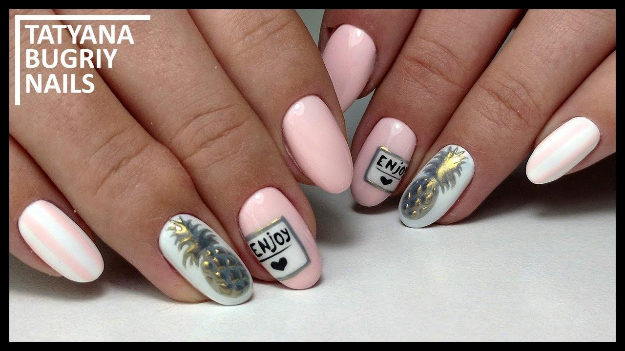 Stylish Manicure / Drawing Pineapple on nails / Grandiose SALE / Hardware  manicure 24mills