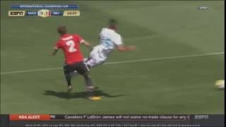 Victor Lindelof tackles Theo Hernandez for a penalty  Real Madrid vs Manchester United