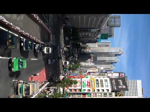 Shinjuku - Looking West Down Koshu-kaido 新宿の甲州街道ビュー (120910)