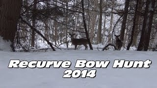 Recurve Bow Deer Hunt 2014 - Stalking - Shane