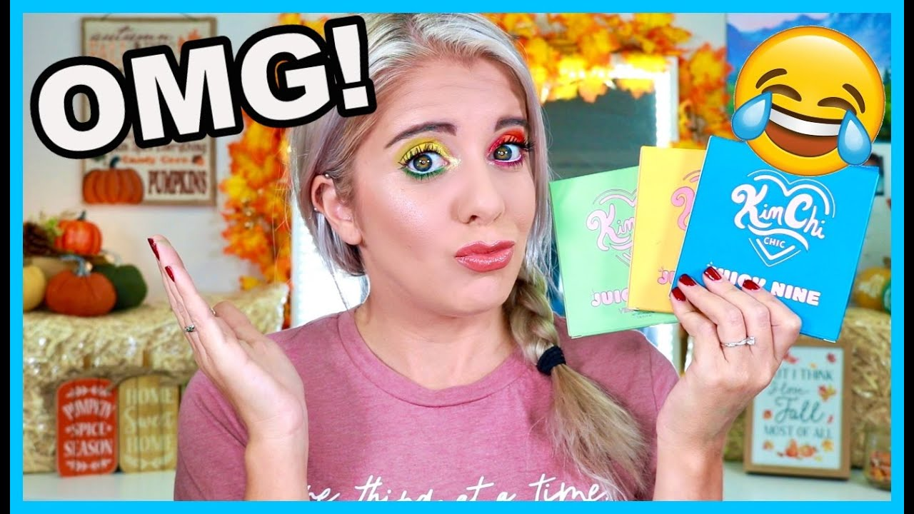 KIMCHI CHIC BEAUTY JUICY NINE PALETTES || YOU DONT WANT TO MISS THIS!! ||