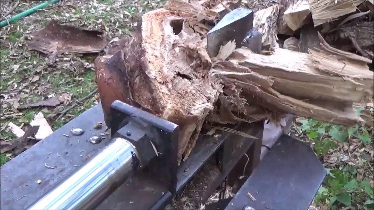 Splitting Different Woods With The Log Splitter Locust Box Elder