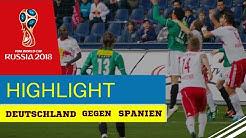 Deutschland gegen Spanien 1-1 Weltmeisterschaft 2018 Highlights HD