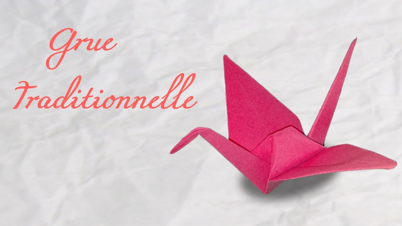 origami la grue traditionnelle hd youtube. Black Bedroom Furniture Sets. Home Design Ideas