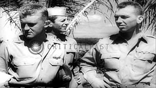 Scenes from Battle of Midway with US Navy forces defeating Japanese navy;  US Nav...HD Stock Footage