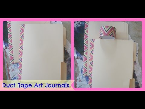 How to make a Art Journal From File Folders and Duct tape/ DIY Duct Tape Art Journal