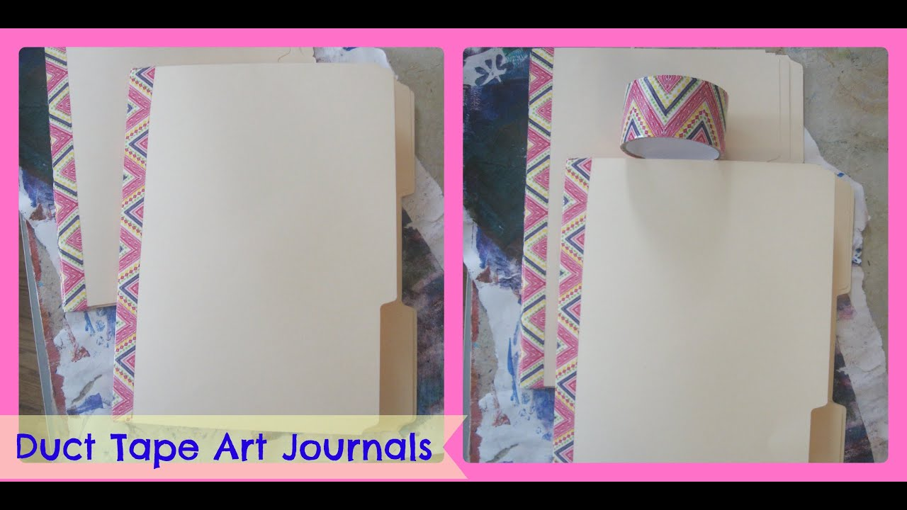 How To Make A Art Journal From File Folders And Duct Tape