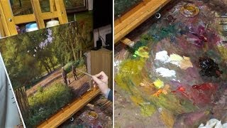 """""""На вечернюю рыбалку"""". Олег Буйко. Живопись маслом. Process of creating oil painting."""