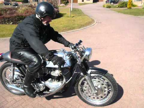 Norton cafe racer first test run Classic bike repairs Glasgow