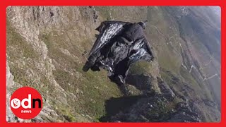 New footage: Jeb Corliss crashes into Table Mountain