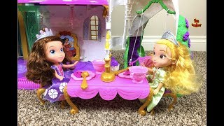 Sofia the First Princess Amber Delightful Dining Cart Unboxing | Toys Academy