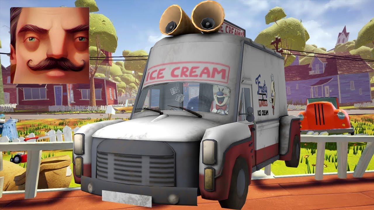 Hello Neighbor - New Neighbor Ice Scream 4 Rod's Van History Gameplay Walkthrough