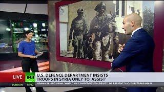 Репортаж RT: американский спецназ в Сирии. Озвучка на русском.