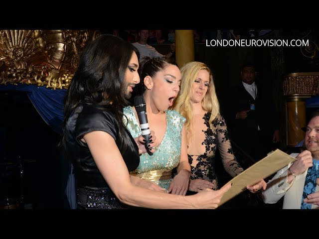 Conchita, Ruth and Suzy - The Divas of the 2014 London Eurovision Party