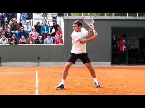 Roger Federer - Practice Session In High Definition