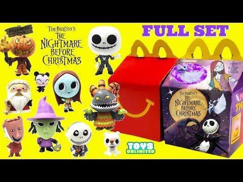 Mcdonalds Nightmare Before Christmas Toys 2020 Opening Pretend Tim Burton's Nightmare Before Christmas McDonalds