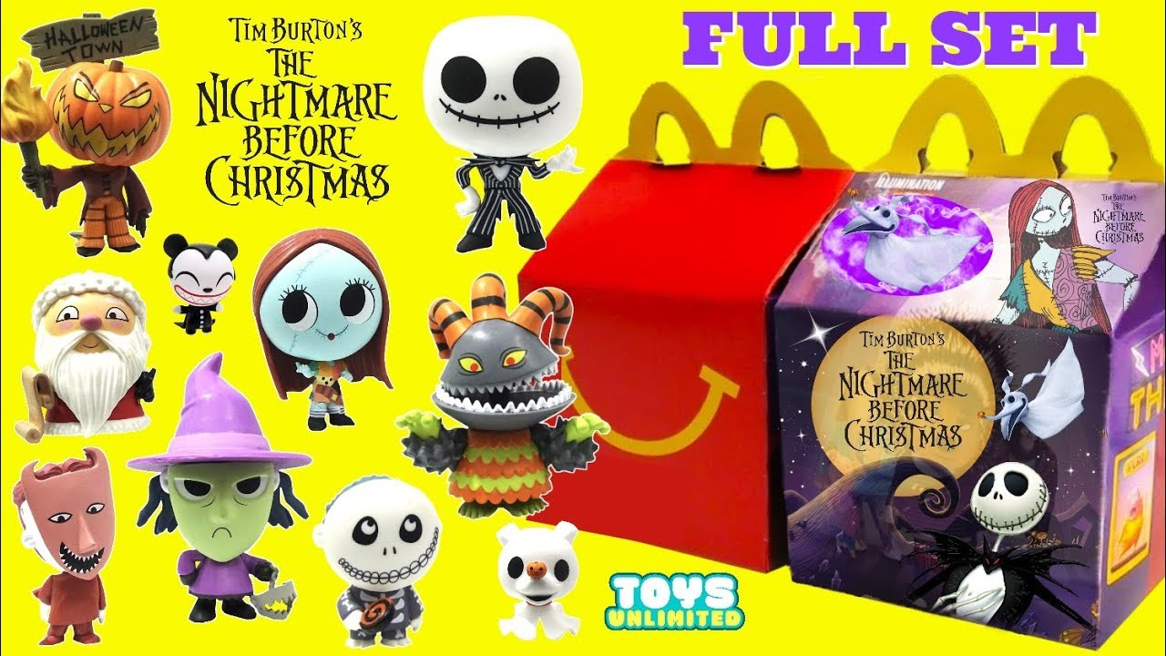 Nightmare Before Christmas Happy Meal 2020 Opening Pretend Tim Burton's Nightmare Before Christmas McDonalds
