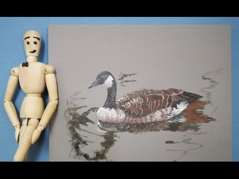 Let's paint a goose. Simple, step-by-step oil painting. Ep. 2