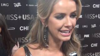 2016 MISS USA red carpet and winner's press conference LAS VEGAS