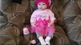 Обложка на видео - Открываем посылку Посылка с Алиэкспресс aliexpress Кукла, как настоящий ребенок, кукла реборн