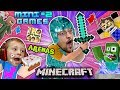 MINECRAFT MINI-GAMES #2 Batman vs FGTEEV Chase ARENA BATTLE & Hello Neighbor Carnival Challenge Map