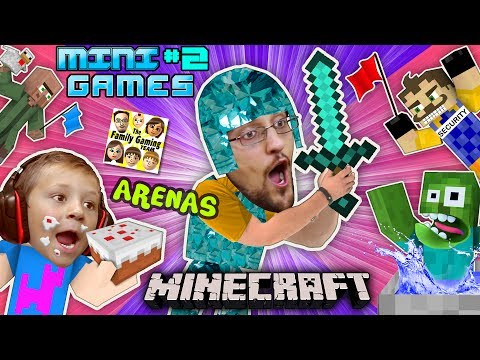 Thumbnail: MINECRAFT MINI-GAMES #2 Batman vs FGTEEV Chase ARENA BATTLE & Hello Neighbor Carnival Challenge Map