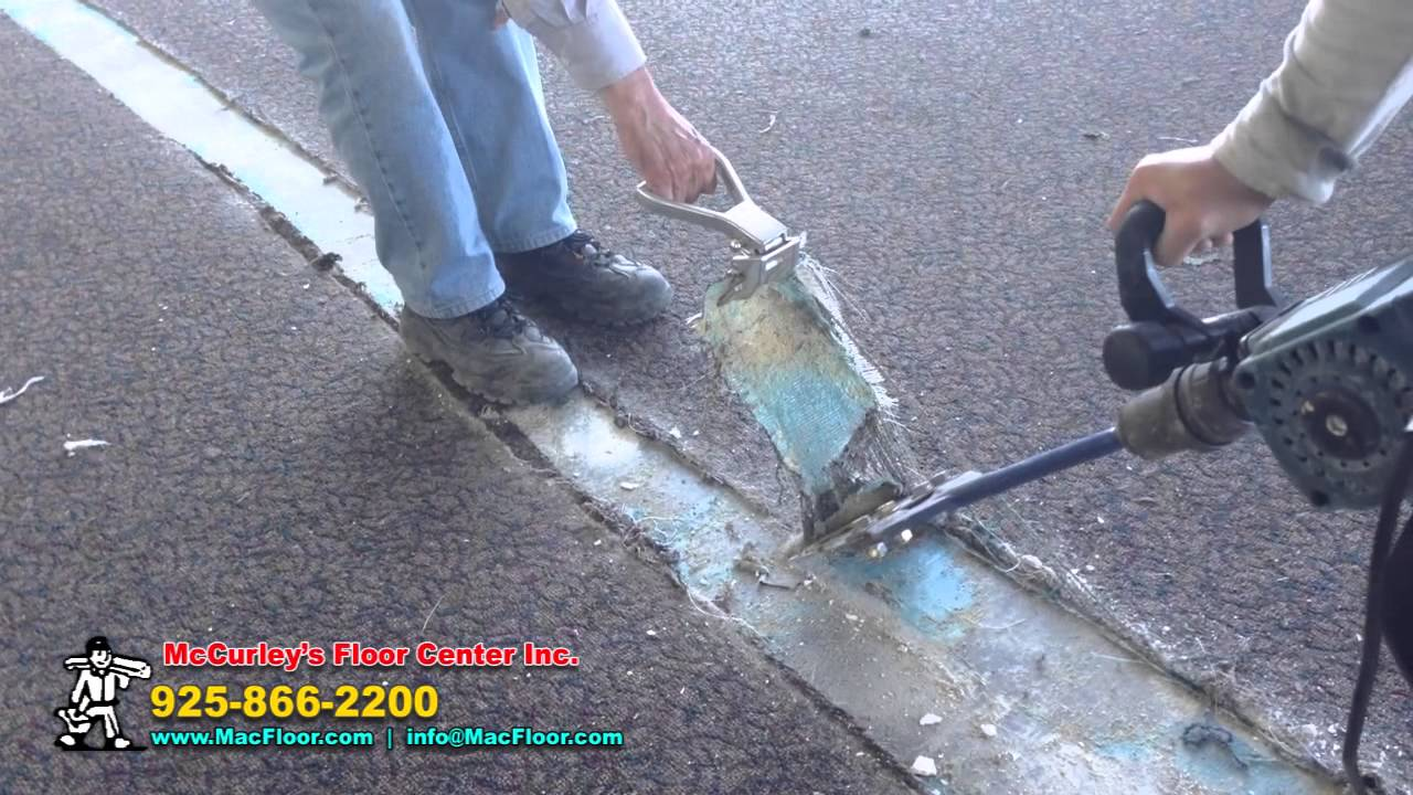 How To Remove Glued Down Carpet Mccurley S Floor Center Inc Youtube