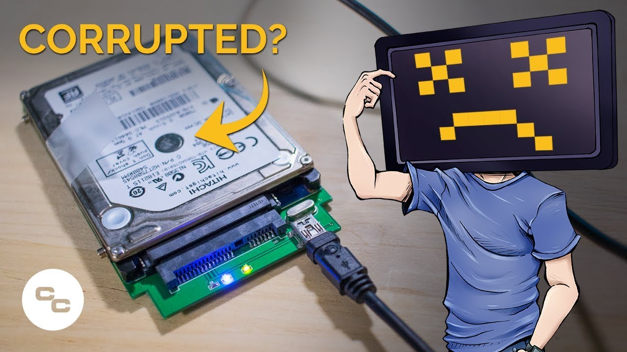 how to corrupt a hard drive
