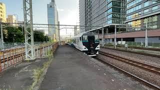 東海道線E257系NC-31編成+NA-01編成特急踊り子16号東京行き川崎駅入線