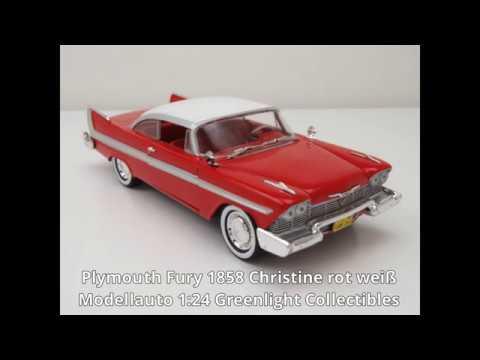 Modellauto 1:24 Chevrolet Impala 1958 rot//weiß Jada Toys