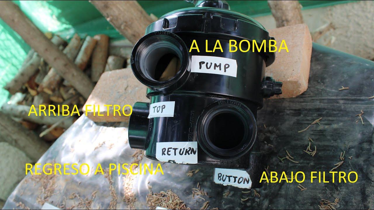 Funcionamiento v lvula y filtro piscina youtube - Bombas de depuradoras para piscinas ...