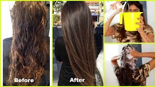 Try This Best Treatment For Dry Damaged Hair- Get Shiny, Soft, Smooth Hair