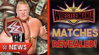 WWE Wrestlers Salaries REVEALED! WWE WrestleMania 35 Matches REVEALED - WWE News Ep. 226