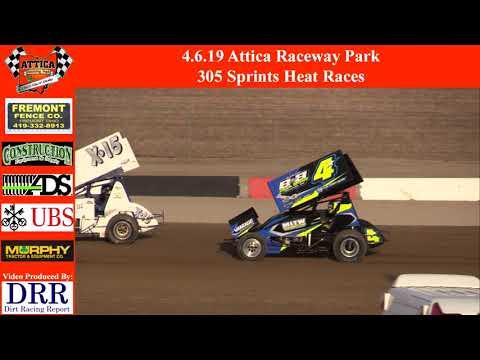 4.6.19 Attica Raceway Park 305 Sprints Heat Races