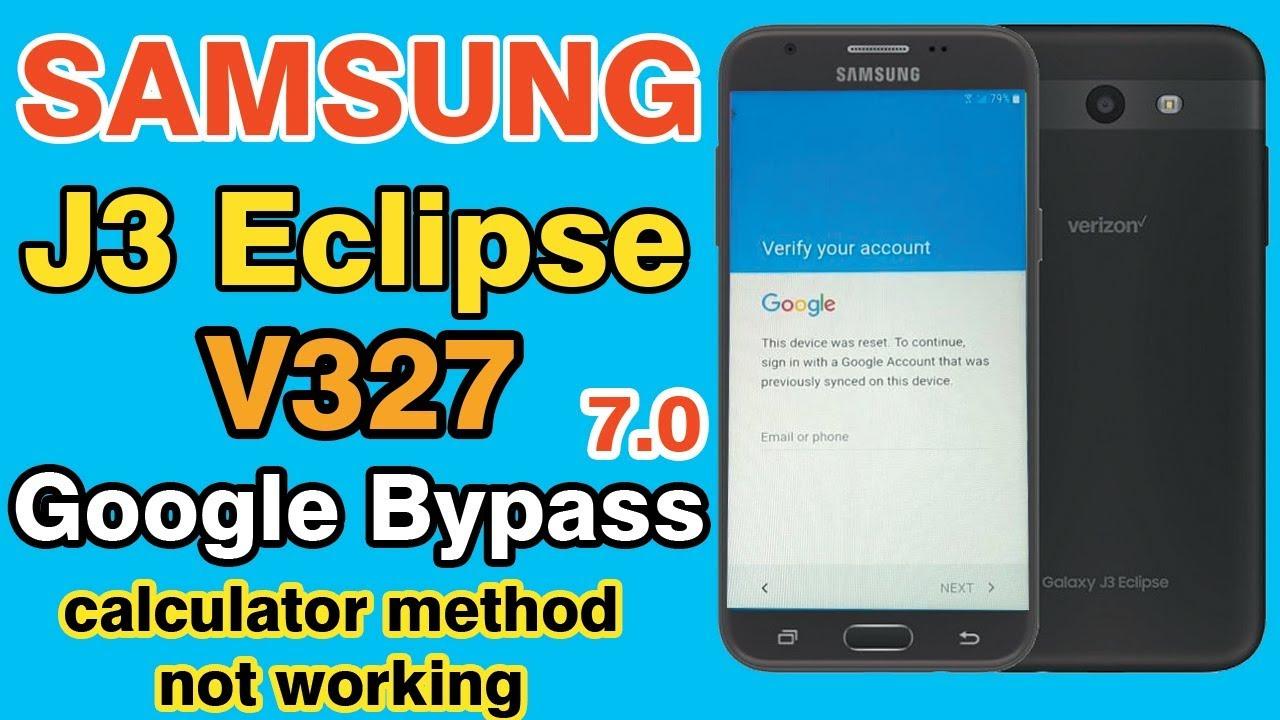 SAMSUNG Galaxy J3 Eclipse 2 (SM-J337V) Verizon FRP/Google