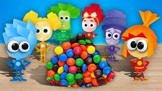 СЮРПРИЗЫ и игрушки - ФИКСИКИ. Рисуем Фиксиков и лепим из ПЛАСТИЛИНА - Сборник для детей