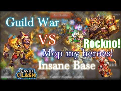 Castle Clash GW Anubis VS Rockno & Gunslinger_Insane Base And Heroes!
