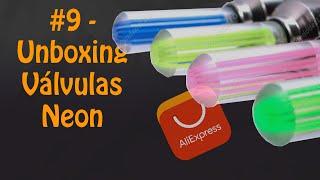 #9 - Unboxing Five. Válvulas com Neon para Bike. Aliexpress